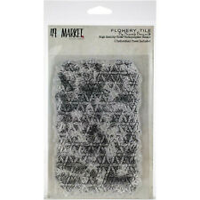 49 and Market Clear Acrylic Stamps Flowery Tile Stamp Pb87490