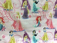 Disney Princesses Jasmin Ariel Snow White100% Cotton Fabric Material Craft/Dress