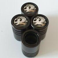 VAUXHALL Matte Black valve Tyre Dust Caps Plastic Inside all models Astra Corsa
