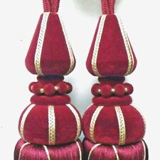 Curtain Tassels, Luxury Burgundy Russian  sold in a Pair Exquisite Long Tassel