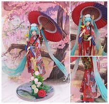 Upgraded version Hatsune Miku Kimono sakura Hanairogoromo PVC girl figure statue