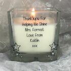 Personalised Best Teacher's Gift Scented Candle Thank you School Christmas