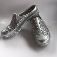 Skechers Women's  Relaxed Fit Commute Time Happy As A Clam Clog Pewter Size 9.5