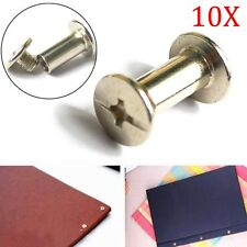 10PCS Nickel Binding Chicago Screws Nail Rivets Photo Album Leather Craft Tool