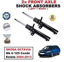 2x FRONT SHOCK ABSORBERS SET for SKODA OCTAVIA Mk II 1Z5 Combi Estate 2004-2013