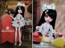 OOAK Monster High Draculaura Alice in Wonderland Custom Repaint