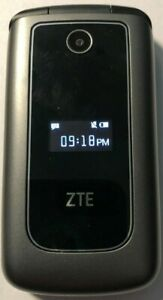 ZTE Z320 Black Consumer Cellular T-Mobile Phone Fast Ship Flip Mint Used 4G