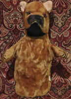 """MOHAIR DOG Hand PUPPET 10"""" Vintage Japan Nice condition Rare Toy Free Shipping"""