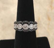 14K WG White And Black Diamond Ring Set
