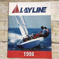 Vintage Layline Sailing Supplies Sales Brochure Catalog 1996 Boating Prices
