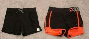 Justice and 365 Kids Girls Size 7-8 Black Shorts