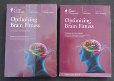 The Great Courses Optimizing Brain Fitness, used Transcript Book & 2 new DVDs