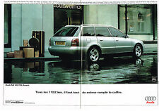 PUBLICITE ADVERTISING  1999   AUDI A4 V6 TDI AVANT  ( 2 pages)