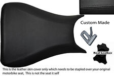 black stitch 03-05 CUSTOM FITS YAMAHA 600 YZF R6 REAL LEATHER SEAT COVER