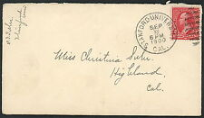 Cover - DPO Stanford University 1900 to Highland California    S1302