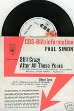 PAUL SIMON Still Crazy After All These Years 45/GER