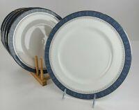 "6 ROYAL DOULTON china SHERBROOKE H 5009 Pattern Dinner Plates 10 5/8"""