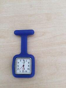Blue Silicone Nurse Fob Watch