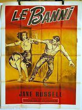 AFFICHE CINEMA 1940 LE BANNI The Outlaw Jane RUSSEL film de Howard HUGHES