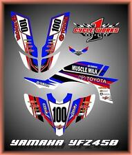Yamaha YFZ 450 04-09  SEMI CUSTOM GRAPHICS KIT Muscle Milk