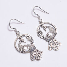 925 Sterling Silver Earrings, Natural Herkimer Diamond Handcrafted Jewelry CE972
