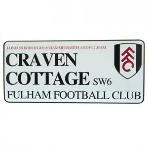 Fulham FC Metal Street Sign