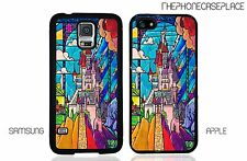 Stained Glass Beauty and the Beast Disney Castle iPhone or Samsung Phone Case
