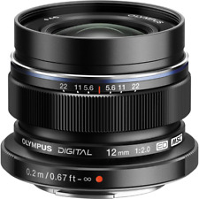 Olympus 12mm f2 M.ZUIKO DIGITAL ED Micro Four Thirds Lens - Black BA0103