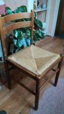 6 Chaises avec assises en paille
