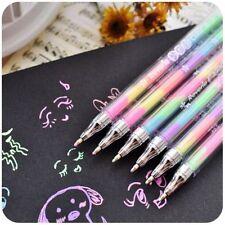 1Pcs Gradient 6 Colors in 1 Pen Gel Pens for Office Students Ink Pen Chalk Pen