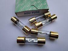 5 Pcs Glass Agu Fuse 5AG60A 60Amp 10.3x38mm Style Audio/Car/RV/Boat 12V/24V/32V