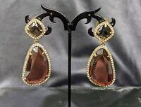 Lovely Stud Push Back Brown Topaz Earrings by ABS by Allen Schwartz Jewellery