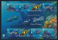 2006 VANUATU WWF GIANT GROUPER SHEETLET FINE MINT MNH/MUH