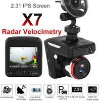 "2.31"" HD 1080P Auto DVR Dashcam Video Camera Recorder Radar Laser Speed Detector"