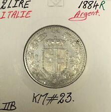 ITALIE - 2 LIRE 1884 R - Pièce de Monnaie en Argent // TTB