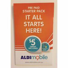 AUSTRALIAN ALDI PREPAID MULTI FIT SIM CARD STANDARD MICRO NANO $5 3G 4G PACK