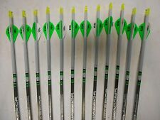12-Warrior 600 by Gold Tip Youth Carbon Dipped/Crested Arrows CUT TO LENGTH!