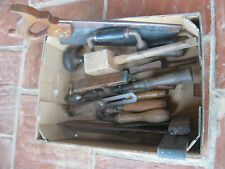More details for box of mixed vintage woodworking tools.