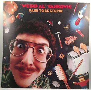 "WEIRD AL YANKOVIC Dare To Be Stupid 1985 CBS promo poster flat 12""X12"" Surgeon"