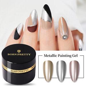 BORN PRETTY 5ml Metallic Painting UV Gel Nail Polish Glitter Soak Off Nail Art