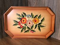 Vintage Nashco Hand Painted Tray Toleware Metal Tole Tray Beautiful B5