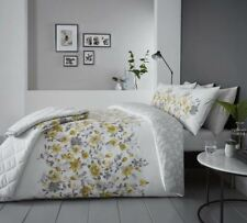 floral style aquarelle Jaune Mélange de coton Housse de couette double