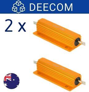 [2x] 10R OHM 100W Power Resistor Aluminum Shell Case Wirewound Resistors