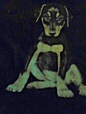 doberman pincher puppy- long sleeve t shirt med.