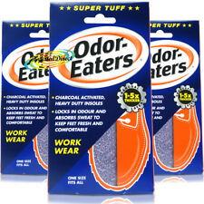 3x Odor Eaters Super Tuff Shoe Odour Washable Work Wear Insoles
