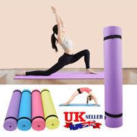 Yoga Mat THICK 6mm 173cm x 61cm Non Slip Exercise/Gym/Camping/Picnic UK
