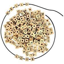 Holz-Perlen, Glasperlen kugeln Buchstaben