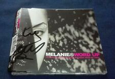 MELANIE MEL B WORD UP HAND SIGNED CD SINGLE AUTOGRAPH RARE SPICE GIRLS
