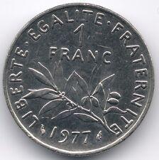 "France :  1 Franc ""Semeuse"" 1977"
