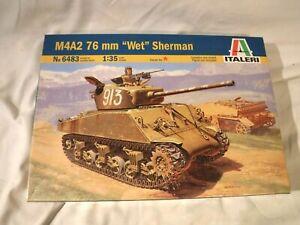1/35 Italeri M4A2 76mm Wet Sherman w/ Russian & 4 Fun Extra US Decals # 6483
